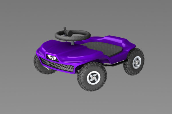 French kart 800 - Kart KIDS purple